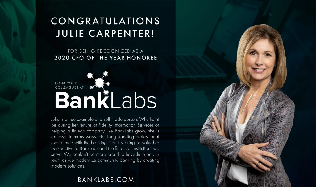 Julie Carpenter recognized as a 2020 CFO of the Year Honoree