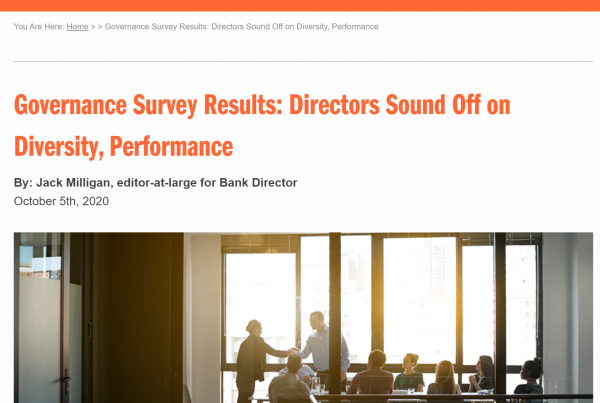 Bank Director article